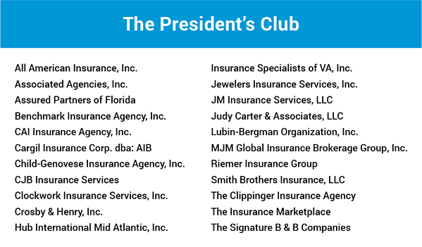 The President's Club - 2019