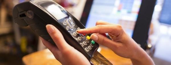 Credit card in termina